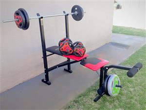 Trojan Performa 310 exercise bench with weights