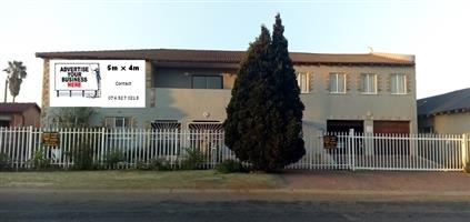 Advertising space for rental Alberton area