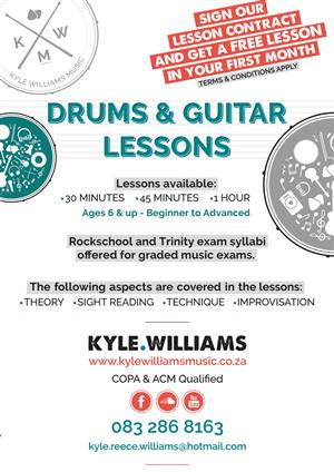 Drums & Guitar Lessons Kyle Williams