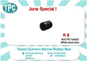 Toyota Quantum Bonnet Rubber New for Sale at TPC
