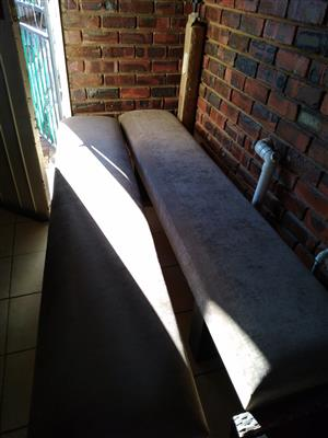 Benches x 2 suede material for sale