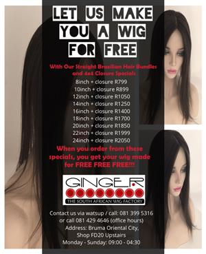 Get your wig made free of charge
