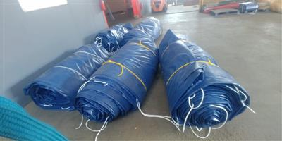 9m x 9m and 16m x 9m heavy duty pvc truck covers/tarpaulins/sails and cargo nets