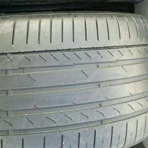 Two back tyres for BMW X5and x6 315/35/20 continental Run Flat