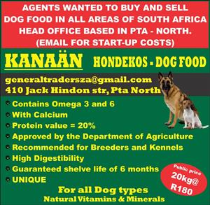 looking for agents to buy and re sell dog food