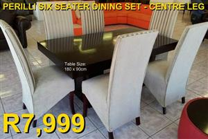 PERILLI SIX SEATER DINING SET ​(Centre Leg)