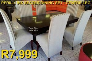 PERILLI SIX SEATER DINING SET (Centre Leg)