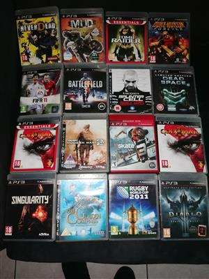 Various PS4, PS4 VR and PS3 games for sale