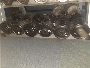 Dumbbells in good condition