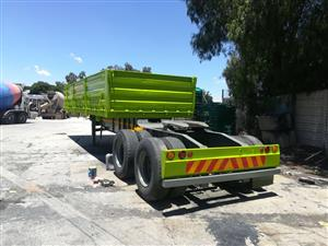 Double Axle Trailer with sides Pre-Owned.