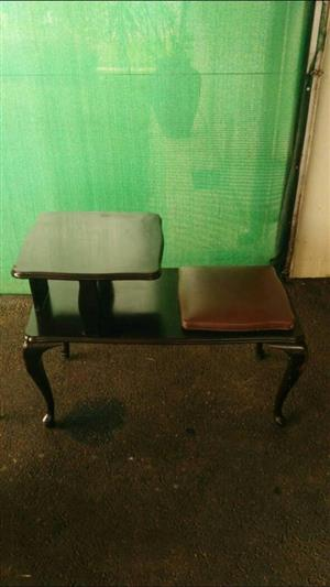 Dark wooden telephone table for sale
