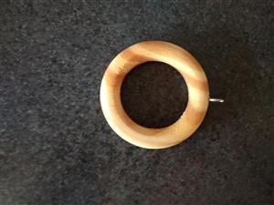 Wooden Round Curtain Rings for sale - Pine - many to choose from