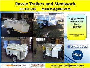 Luggage Trailers 5 ft to 8 ft for sale NRCS approved