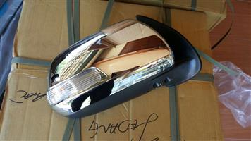 TOYOTA FORTUNER 2012/15  DOOR MIRRORS ELECTIC CHROME WITH INDIACTOR ELECTRIC FOLDING FORSALE PRICE R1950