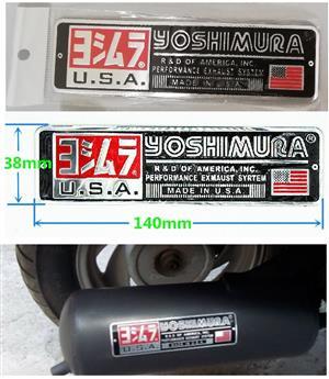 Yoshimura aluminium exhaust decals badges