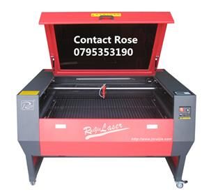 80w laser engraving and cutting machine 1.3mx0.9m table factory shop