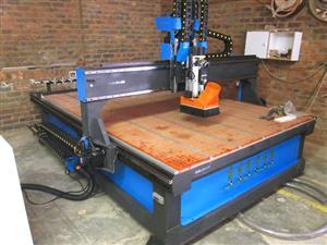 R2-2040K/90V EasyRoute Heavy Duty 380V Standard 2050x4000mm PVC Clampable Vacuum CNC