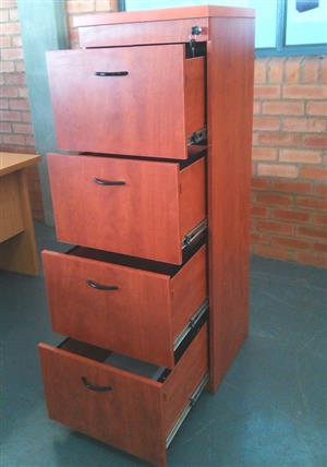 Cherry  wood 4 drawer filling cabinet