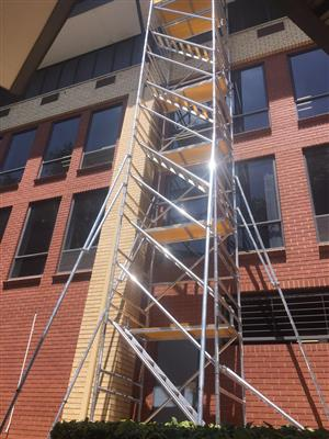 Aluminium scaffolding for hire