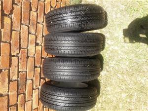 Tyres 185/65/R15 Including Rims/ Mags