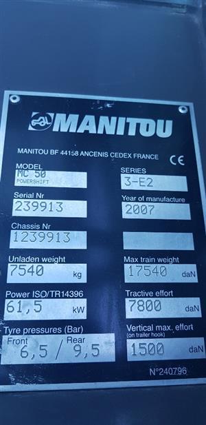 2007 MANITOU MC50 ROUGH TERRAIN FORKLIFT