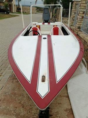 Open speedboat