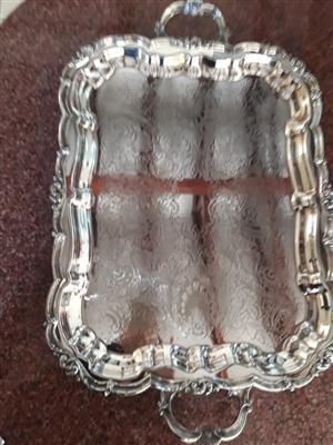 Canadian silver tray
