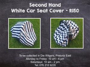 Second Hand  White Car Seat Cover