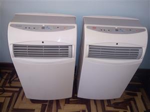 2x 10000 BTU Airconditionets portable
