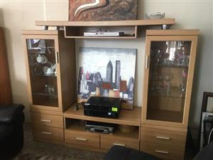 3 pce Oak wall unit in great condition