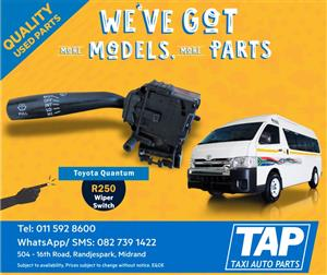 Toyota Quantum WIPER SWITCH - Taxi Auto Parts quality used spares - TAP