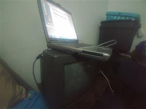 Old Dell laptop with charger,