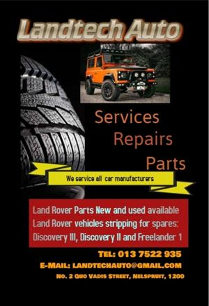 Services, Repairs and Parts