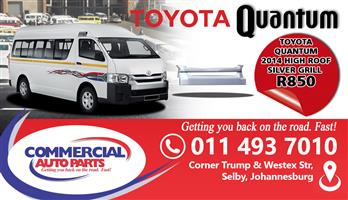 TOYOTA QUANTUM 2014 HIGH ROOF SILVER GRILL FOR SALE