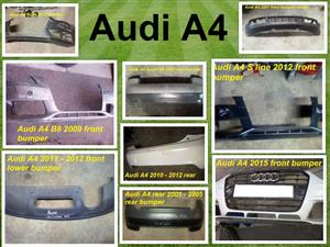 Audi A4 front and rear bumpers for sale for most vehicle makes and models.