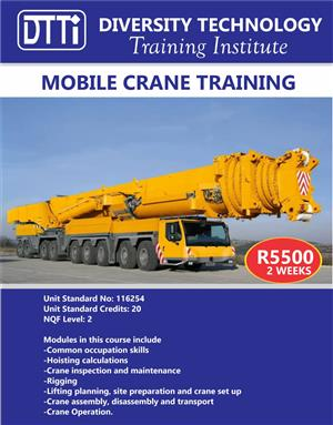 TLB,Dump Trucks, Excavator,First aid,OHS,Fire fighter,Cranes , Forklift ,Dozer Training