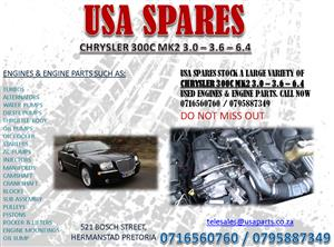 CHRYSLER 300C 3.0 3.6 6.4 ENGINES AND ENGINE PARTS FOR SALE- USA SPARES