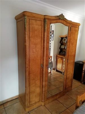 Antique Birds Eye Maple cupboard