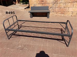 Foldable Steel Single Bed