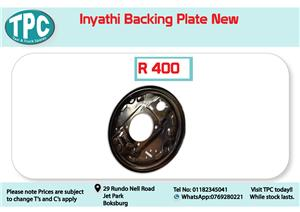 Inyathi Backig Plate New for Sale at TPC