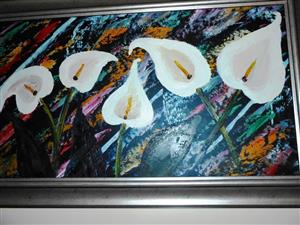 Arum Lillies Paintings St Clare