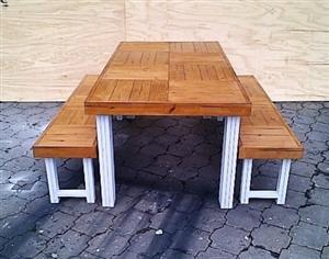 Patio table Farmhouse series 1850 Combo 1 Two Tone