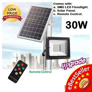 Brand New Solar Rechargeable LED Floodlight + Remote Control.