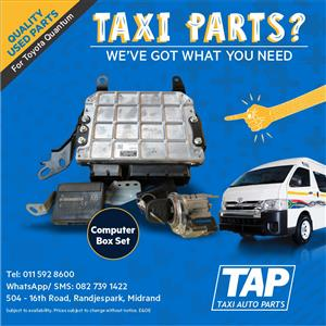 Computer Box Set for Toyota Quantum - Taxi Auto Parts quality used spares - TAP