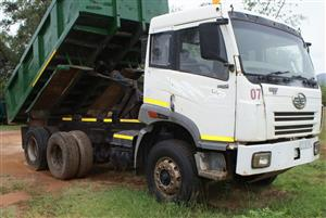 Tipper truck for sale/swop/trade. FAW 28/280.,2007,10 meter tipper WITH WORK AND CLIENT BASE.  R170 000 ex VAT or will swop for car/bakkie/SUV of similar value.