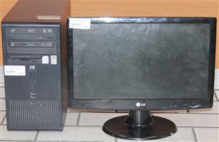 HP computer with keyboard,mouse and monitor S036556A #Rosettenvillepawnshop