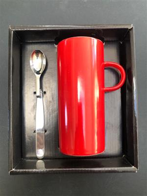 S and P Tower 2 piece Mug and spoon Box set - Funky gift idea!