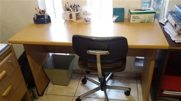 Wooden table with chair - ideal for study or PC work
