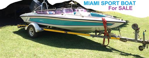 Miami Sport 17ft Speed Boat- Waterski/wakeboard/Fish - great family boat. Cash or fun SWOP