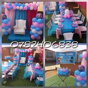 Kids parties. Babyshower. Weddings and other events